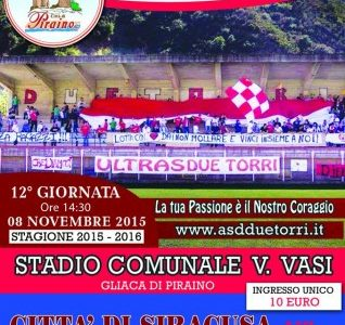 """Piraino  – Due Torri vs Siracusa,  """"Giornata Biancorossa"""", senza ingressi omaggio"""