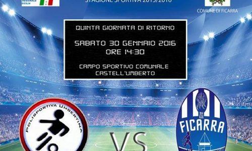 Castell'Umberto – Seconda categoria: oggi pomeriggio il derby tra Umbertina e Ficarra