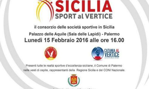 """PALERMO – Nasce """"Sicilia Sport al Vertice"""",  la presentazione lunedì 15"""