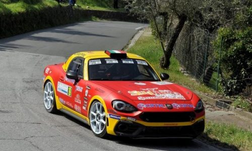 CST Sport con Riolo – Rappa su Abarth 124 al Rally del Salento