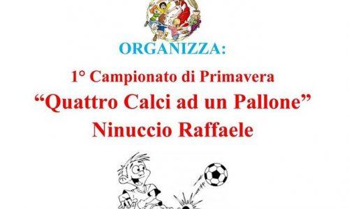"""Brolo – All'Oratorio Parrocchiale il I° Campionato di Primavera """"Quattro Calci a un Pallone – Ninuccio Raffaele"""