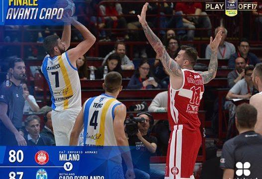 Basket Serie A1 – Capo d'Orlando vince gara 1 a Milano