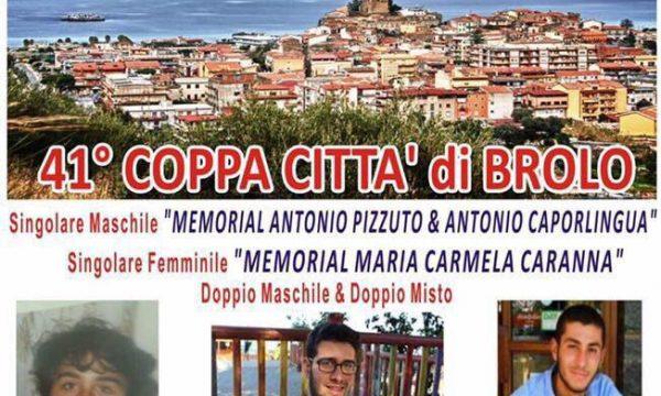 Brolo – Tennis: Domenica la 41° Coppa Citta'di Brolo, dedicato a Maria Carmela, Antonio & Antonio