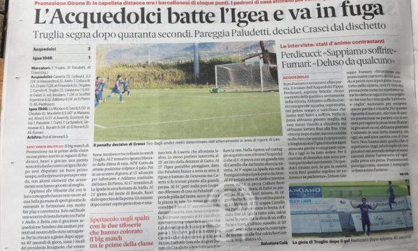 Promozione – Acquedolci: chiudiamo il campionato in seconda posizione, a 3 punti dalla capolista e corazzata Igea Virtus