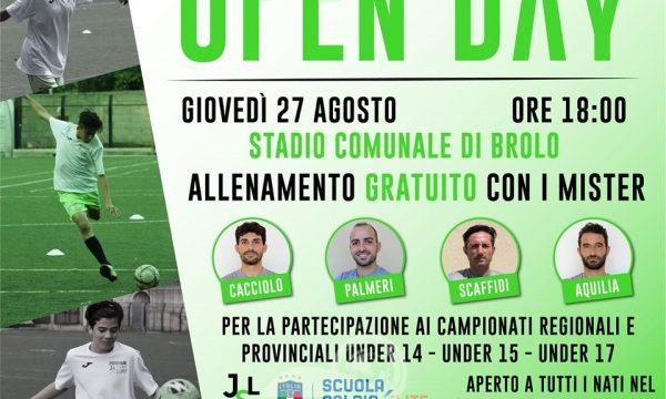 Brolo – Il 27 agosto, l'Open Day della Scuola Calcio JSL