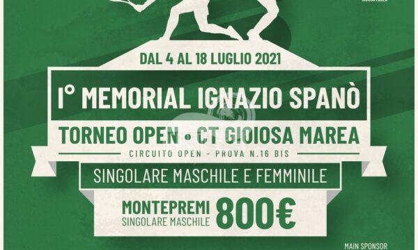 Gioiosa Marea – Tennis: Da oggi al 18 luglio il 1° Memorial IGNAZIO SPANO'